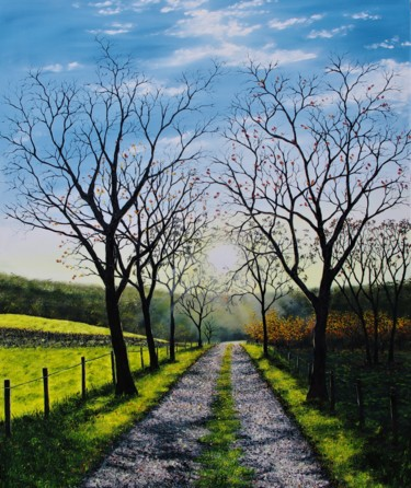"""Painting titled """"Towards The End of…"""" by Hazel Thomson, Original Art, Oil"""