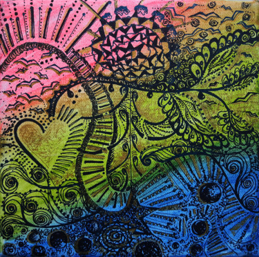 Abstract Painting, ink, conceptual art, artwork by Hilen Hernandez