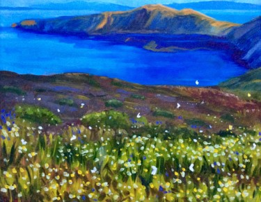 """Painting titled """"Butterflies and Wil…"""" by Hilary J England, Original Art, Oil"""