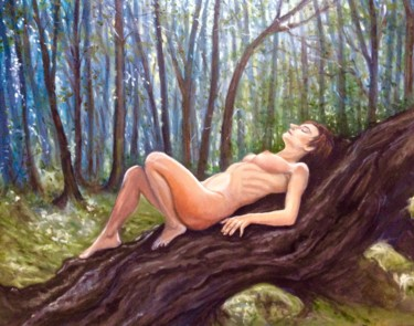 """Painting titled """"Female Nude in the…"""" by Hilary J England, Original Art, Oil"""