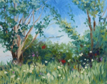 """Painting titled """"Spring Afternoon in…"""" by Hilary J England, Original Art, Oil"""