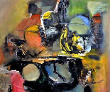 """Painting titled """"Abstract"""" by Clement Tsang, Original Art, Oil"""