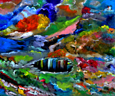 """Painting titled """"Heaven and Earth"""" by Clement Tsang, Original Art, Oil"""