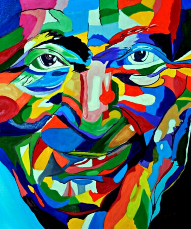 """Painting titled """"Famous Face"""" by Clement Tsang, Original Art, Oil"""
