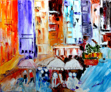 """Painting titled """"Cityscape"""" by Clement Tsang, Original Art, Acrylic"""