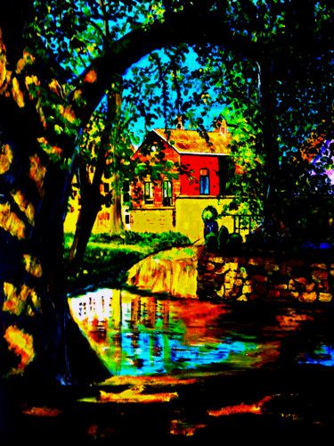 """Painting titled """"My House in the For…"""" by Clement Tsang, Original Art, Acrylic"""