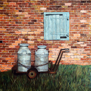 """Painting titled """"Milk Tank in front…"""" by Clement Tsang, Original Art, Acrylic"""