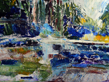 """Painting titled """"Landscape"""" by Clement Tsang, Original Art, Acrylic"""