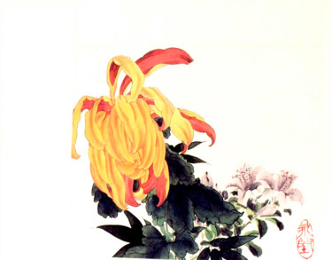 """Painting titled """"Colourful Flower"""" by Clement Tsang, Original Art, Watercolor"""