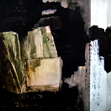 """Painting titled """"Cliff and Rock"""" by Clement Tsang, Original Art, Watercolor"""
