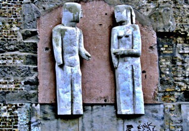 """Photography titled """"Pair of Statue in D…"""" by Clement Tsang, Original Art, Digital Photography"""