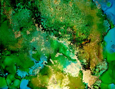"""Painting titled """"aerial abstract flu…"""" by Holly Anderson, Original Art, Ink"""
