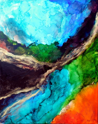 Painting, abstract, artwork by Holly Anderson