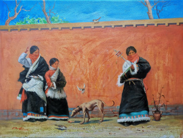 Everyday Life Painting, oil, classicism, artwork by Hongtao Huang