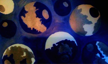 """Painting titled """"Blue Balls"""" by Sonia/Diviine01, Original Art, Acrylic"""