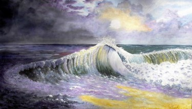 """Painting titled """"Between Storms."""" by Hound-B, Original Art,"""