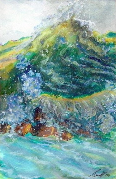 """Painting titled """"Wild Water"""" by Hound-B, Original Art,"""