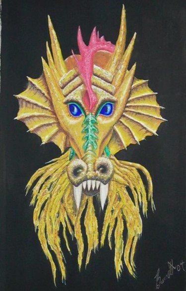 """Painting titled """"Draco Golden"""" by Hound-B, Original Art,"""