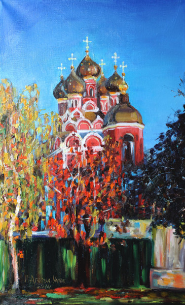 """Painting titled """"""""Churches of Moscow…"""" by Irina Ageeva-Usova, Original Art, Oil"""