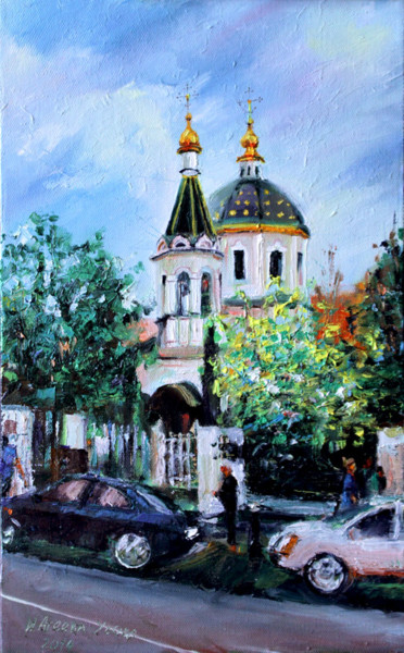 """Painting titled """"Temples of Moscow /…"""" by Irina Ageeva-Usova, Original Art, Oil"""