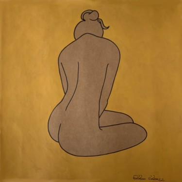"""Drawing titled """"Lost in Thoughts"""" by Hiranya Ranawake, Original Art, Gouache"""