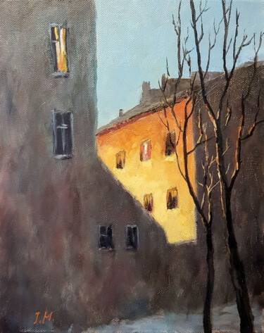 """Painting titled """"Late evening in the…"""" by Igor Makeev, Original Art, Oil"""