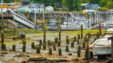 """Photography titled """"Retired Pilings"""" by Igzotic, Original Art, Digital Photography"""