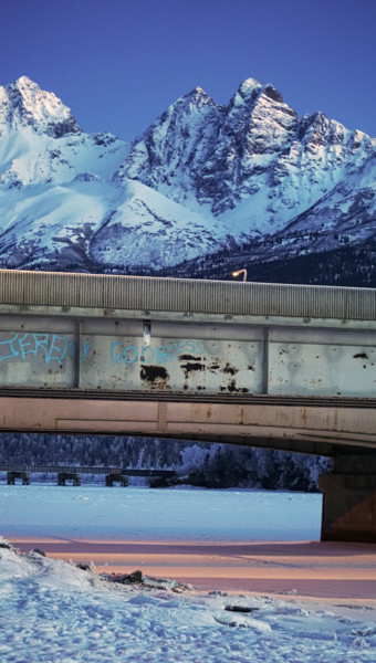 """Photography titled """"Knik River"""" by Igzotic, Original Art, Digital Photography"""