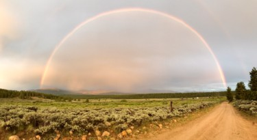 """Photography titled """"Rainbow Panorama"""" by Igzotic, Original Art, Digital Photography"""