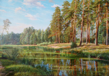 Landscape Painting, oil, hyperrealism, artwork by Ilfat Davutov