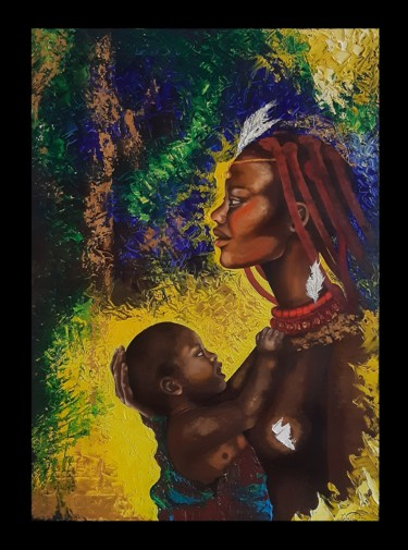 Africa Painting, oil, expressionism, artwork by Дарія Ільчук