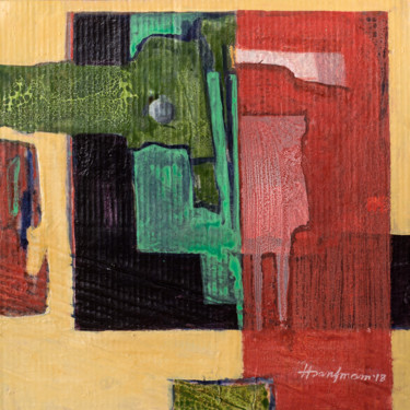 """Painting titled """"fragmented image 10"""" by A.K.M. Hasan Imam, Original Art, Acrylic"""