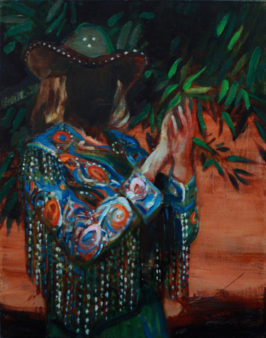 """Painting titled """"Lady of the Leaves"""" by Anton Horvatovic, Original Art, Oil"""