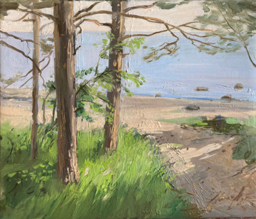 """Painting titled """"To the sea"""" by Elmar Magerram, Original Art, Oil"""