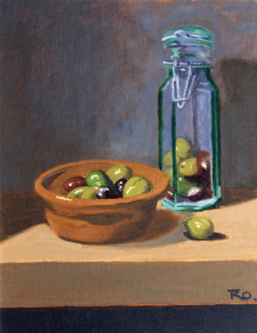 """Painting titled """"Olives"""" by Rowenna Morag, Original Art, Oil"""