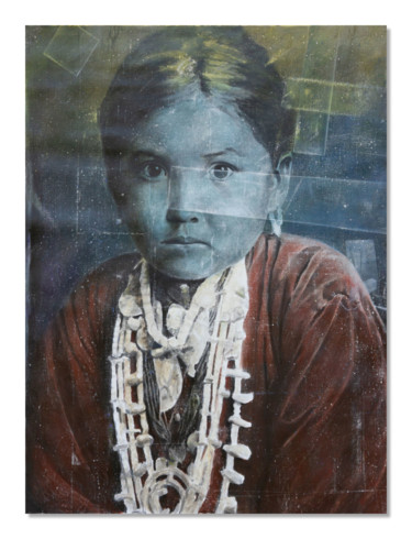 """Painting titled """"Native child"""" by Lucas Cann, Original Art, Acrylic"""