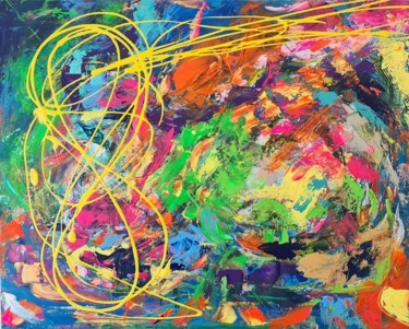 """Painting titled """"Infini"""" by Ange Porté, Original Art, Acrylic"""