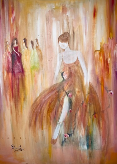 """Painting titled """"Glitter"""" by Roula Chreim, Original Art, Acrylic Mounted on Stretcher frame"""