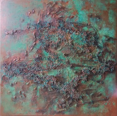 """Painting titled """"Copper Landscape, a…"""" by Tanya Kreymer, Original Art, Acrylic"""