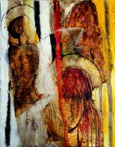 """Painting titled """"Icon"""" by Iren Krum, Original Art, Oil Mounted on Stretcher frame"""