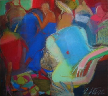"""Painting titled """"Kissers"""" by Irena Luse, Original Art,"""