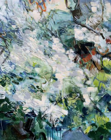 """Painting titled """"Spring in the mount…"""" by Irina Laube, Original Art, Acrylic"""