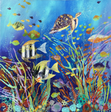 Fish Painting, acrylic, abstract, artwork by Irina Rumyantseva