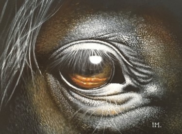 """Painting titled """"Horse n°6"""" by Isabelle Molinard, Original Art, Acrylic"""