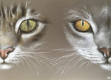 """Painting titled """"Double cat's eyes"""" by Isabelle Molinard, Original Art, Acrylic"""