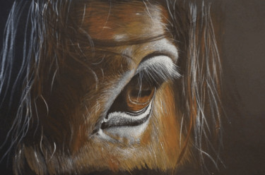 """Painting titled """"Horse n°3"""" by Isabelle Molinard, Original Art, Acrylic"""