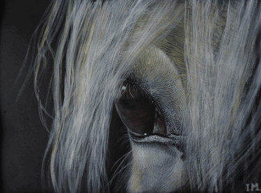 """Painting titled """"Horse n°4"""" by Isabelle Molinard, Original Art, Acrylic"""