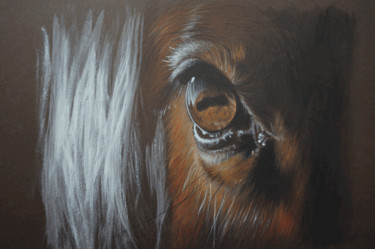 """Painting titled """"Horse n°5"""" by Isabelle Molinard, Original Art, Acrylic"""