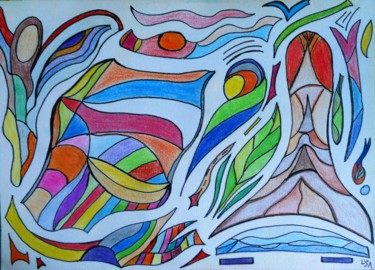 Drawing, abstract, artwork by Isabelle Tirard