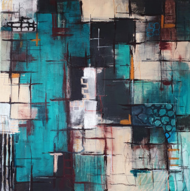 """Painting titled """"Connecting no. 1"""" by Iulia Paun, Original Art, Acrylic Mounted on Stretcher frame"""